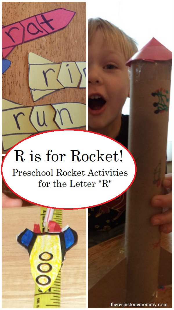 Rocket Activities for preschool -- perfect for working on the letter R