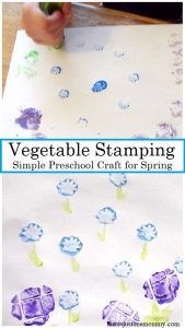 preschool craft: vegetable stamping