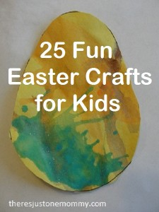 25 Easter Crafts for Kids via There's Just One Mommy