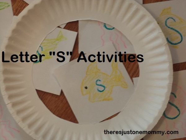 "preschool activities for the letter ""S"""