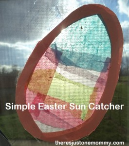Easy Easter sun catcher craft