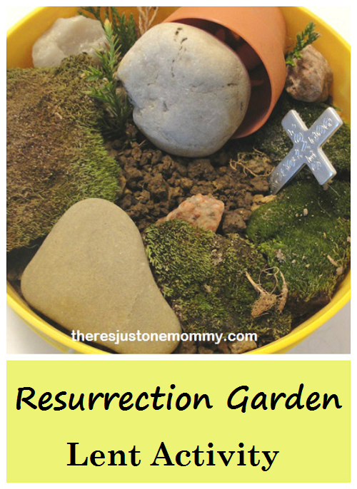 Simple Lent activity for kids -- How to make a Resurrection Garden to help explain Good Friday and the miracle of Easter