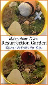 how to make a mini resurrection garden
