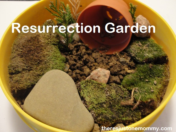 Simple Resurrection Garden to teach about Easter