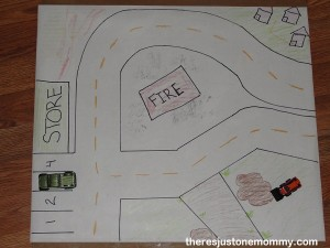 creative ways to play with toy cars -- build a city!