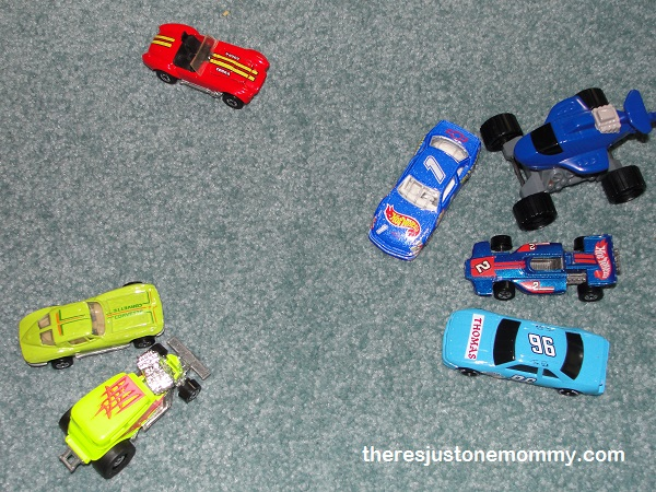 things to do with toy cars -- sort them!