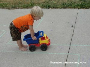 things to do with toy cars -- make a big maze!