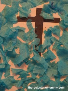 tissue paper Easter craft