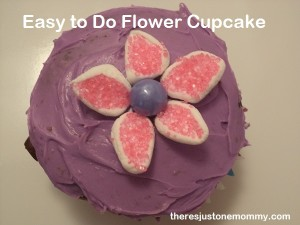 flower cupcake for bridal shower