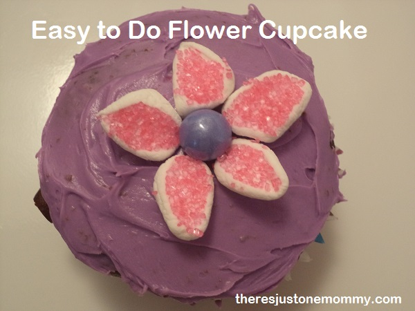 flower cupcake for bridal shower