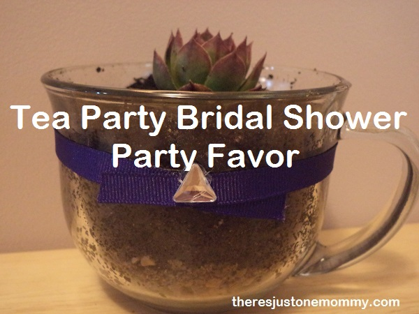 tea party bridal shower party favor idea from There's Just One Mommy