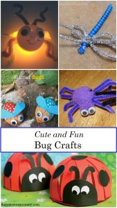 kids bug crafts -- lightning bug crafts, ladybug crafts, and dragonfly craft ideas for kids
