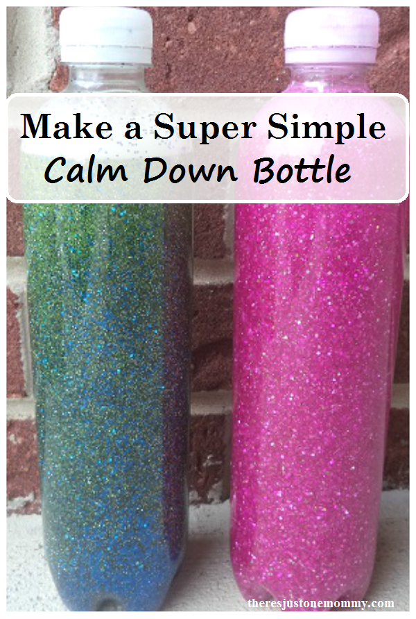 How to make a calm down bottle -- simple directions for sensory bottle