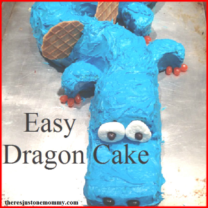 DIY dragon cake: dragon cake tutorial for that dragon themed party