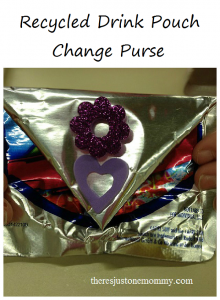 Recycled Drink Pouch Craft -- make a cute change purse