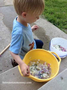 fairy soup sensory play