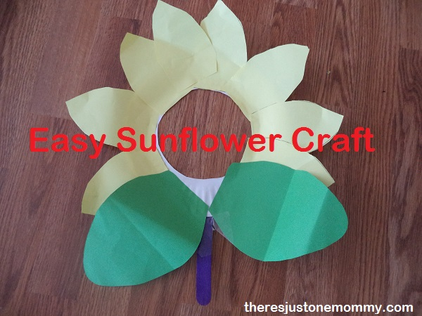 kids sunflower craft -- easy flower craft