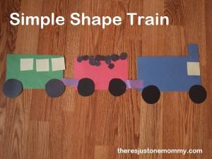 simple preschooler train craft
