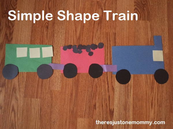 simple preschooler train craft