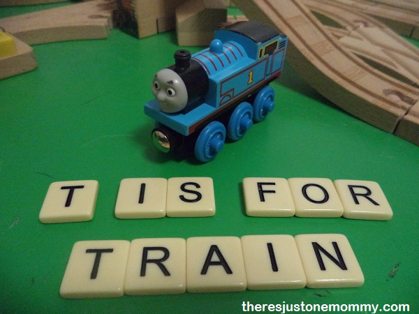 "preschooler activities for ""T"" Is for Train via There's Just One Mommy"
