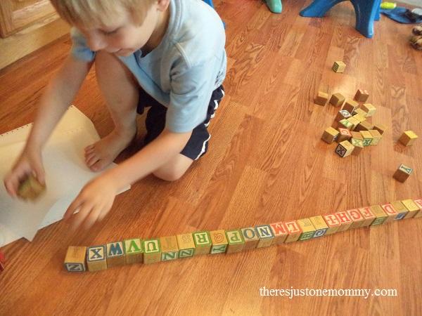preschooler alphabet activity