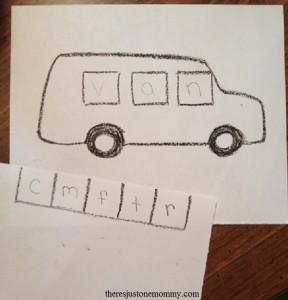 preschool activities for V