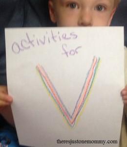 preschooler activities for V