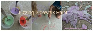 How to make fizzing sidewalk paint