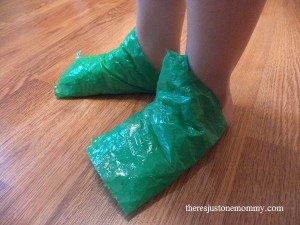 quick bubble wrap sensory activity