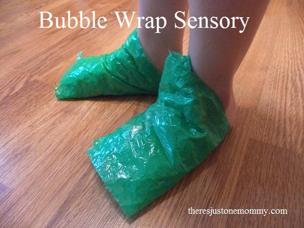 easy bubble wrap sensory activity