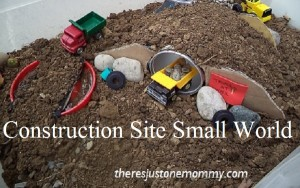construction site small world play