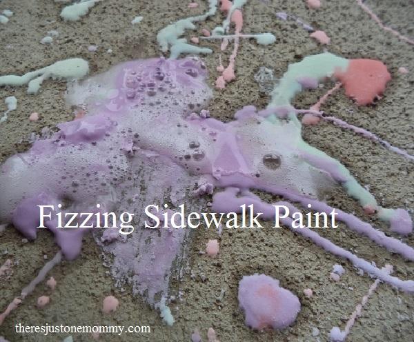 Fizzing Sidewalk paint recipe