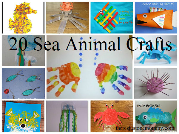 Adorable Sea Animal Crafts for Kids | There\'s Just One Mommy