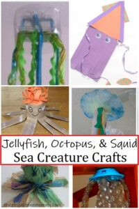 jelly fish crafts & octopus crafts