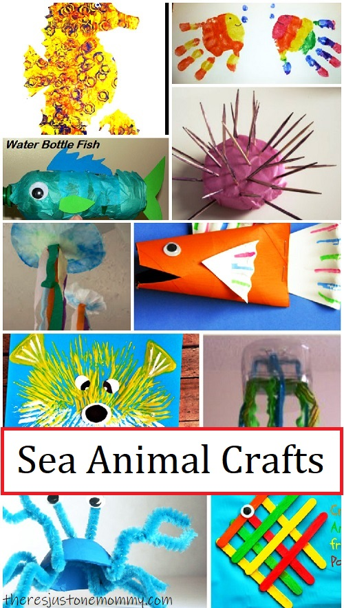 Sea Animal Crafts For Kids There S Just One Mommy