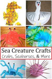 kids sea creature crafts