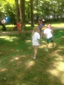 spider web maze - fun idea for summer!