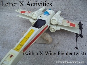 letter X activities with a X-Wing Fighter twist