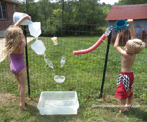 DIY water wall activity
