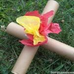 camp craft: American Girl Doll camp fire tutorial