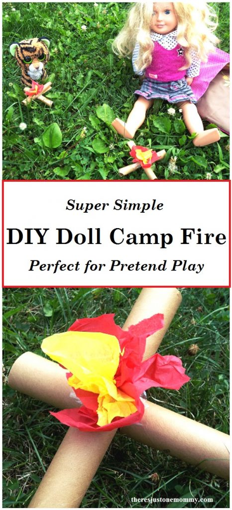 Does your American Girl Doll love the outdoors? Make this simple DIY doll camp fire for plenty of camping pretend play. American Girl Doll Craft