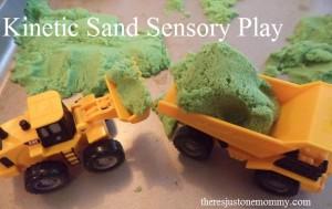 Kinetic Sand sensory play