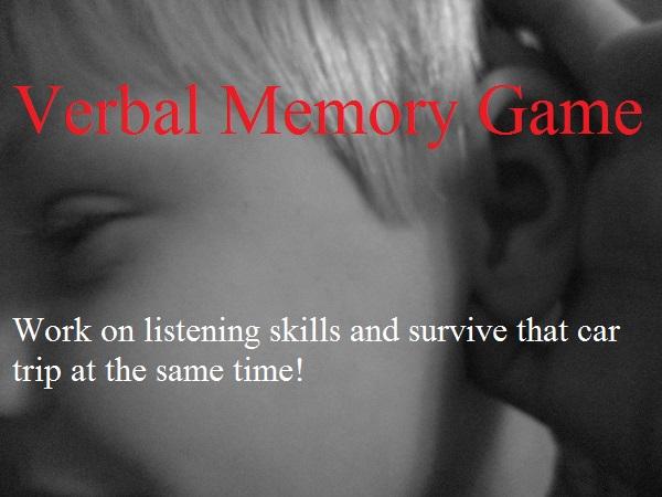 verbal memory game:  improve listening skills