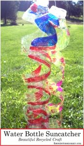 recycled water bottle craft -- make a gorgeous water bottle suncatcher!