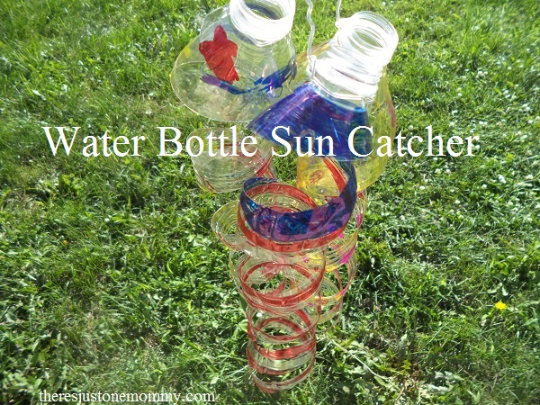 Water bottle craft sun catcher there 39 s just one mommy for Water bottle recycling ideas
