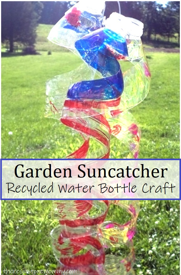 how to make a suncatcher from a water bottle