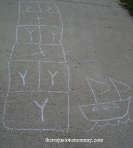 letter Y activity -- letter hopscotch