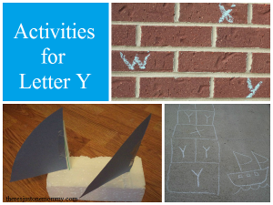 preschool activities for letter Y