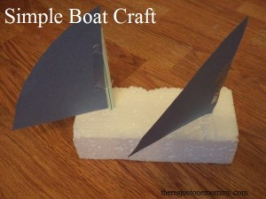 y activities -- simple yacht craft for the letter Y