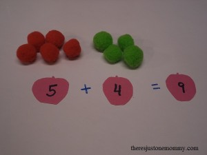 apple themed math activity